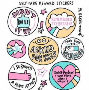 Image of self care reward stickers practical tips for self care