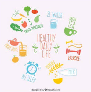 Image of healthy lifestyle factors