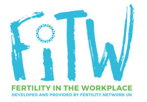 Fertility in the workplace campaign logo managing IVF workplace
