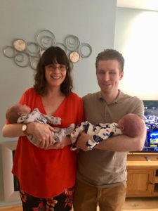 image of Nia, her Husband and IVF twins fertility and disability