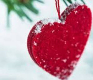 image of a heart christmas decoration tips for taking back control this christmas