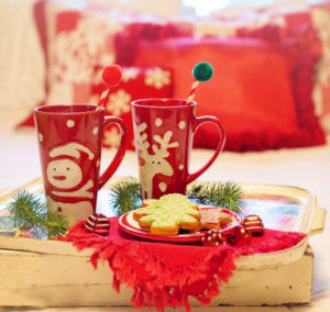 image of hot chocolate and biscuits tips for taking back control this christmas
