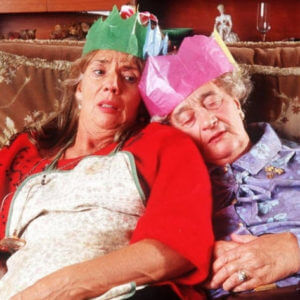 image of two ladies from The Royle Family dealing with friends and family